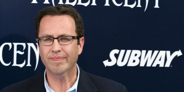 "In this May 28, 2014 photo, Subway restaurant spokesman Jared Fogle arrives at the world premiere of ""Maleficent"" at the El C"