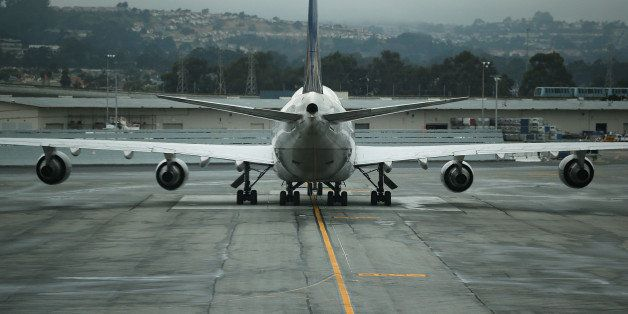 SAN FRANCISCO, CA - JUNE 10:  A United Airlines plane sits on the tarmac at San Francisco International Airport on June 10, 2