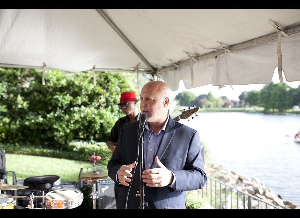 Mitchell Landrieu, Mayor of New Orleans, speaks at a private reception for PowerMoves.NOLA participants.  [Photography by <a