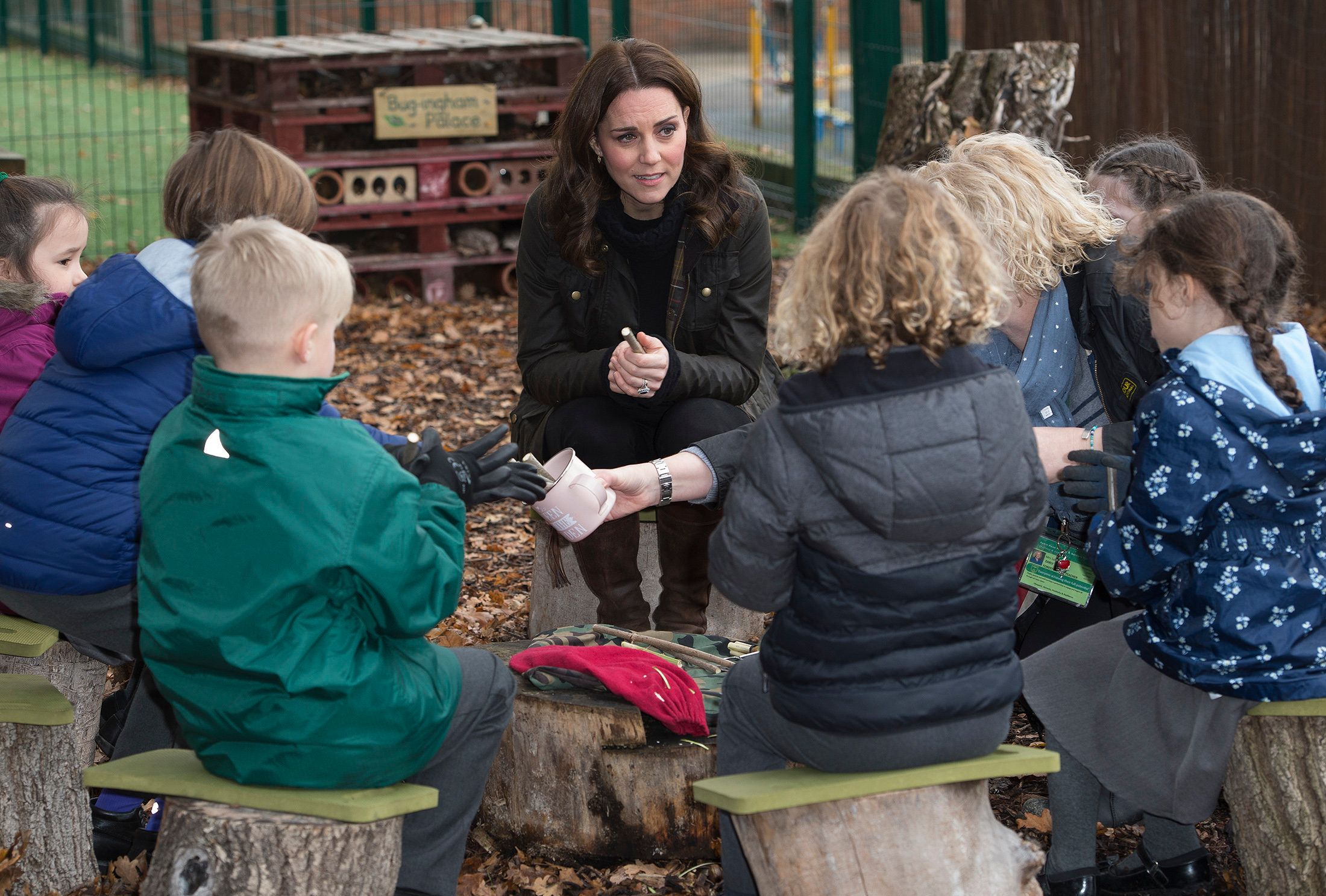 Duchess of Cambridge visits the Robin Hood Primary School to celebrate ten years of The Royal Horticultural