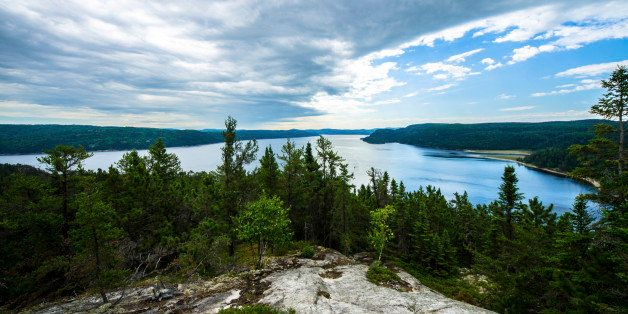 The idyllic Saguenay Fjord Park, In Quebec Canada.