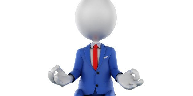 '3d businessman meditating on earth globe, focus on the USA. Isolated on white with clipping path included.'