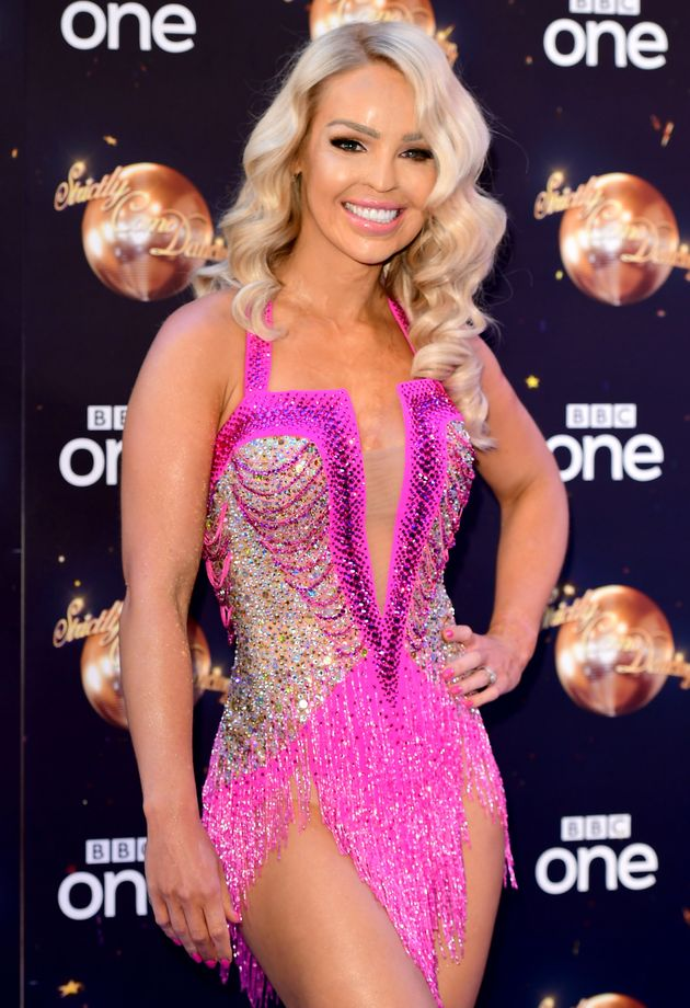 Katie at this year's 'Strictly'