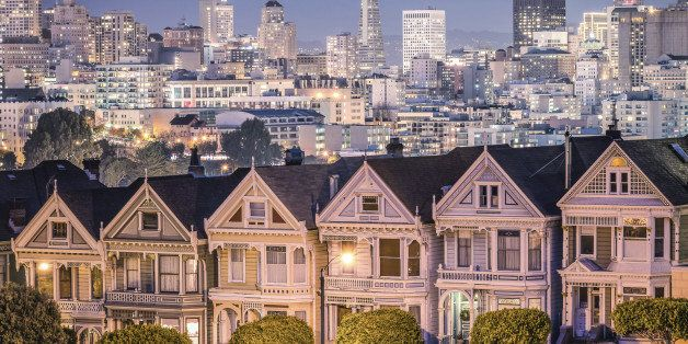The Painted Ladies - San Francisco Skyline