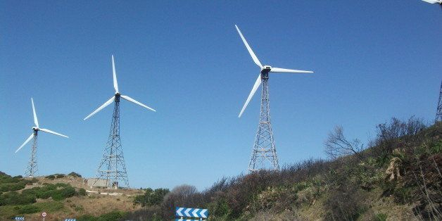 Wind turbines in Andalucia.
