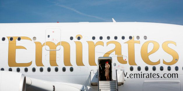SCHOENEFELD, GERMANY - MAY 21: Airbus A380-800 of the Arabic airline Emirates on March 21, 2014 in Schoenefeld, Germany. (Pho