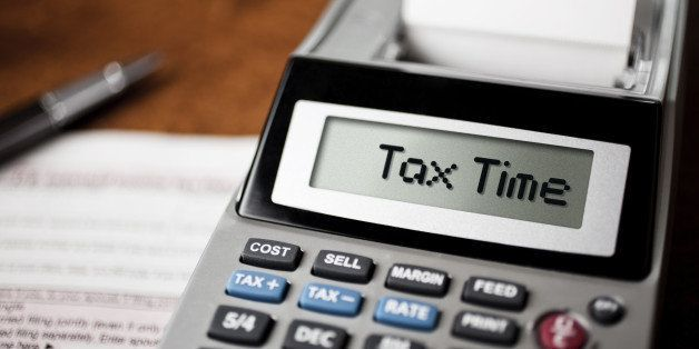 Tax Time spelled out on a calculator.