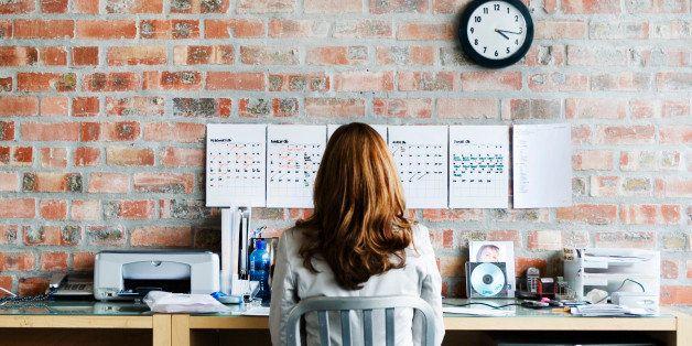 Businesswoman Working at Her Desk