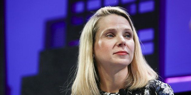 Marissa Mayer, President and CEO of Yahoo, participates in a panel discussion at the 2015 Fortune Global Forum in San Francis