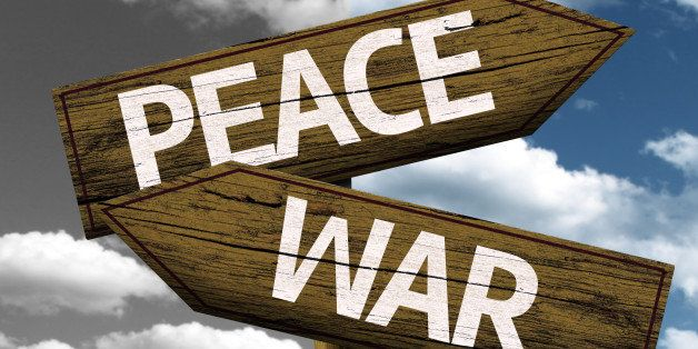 peace x war creative sign with...