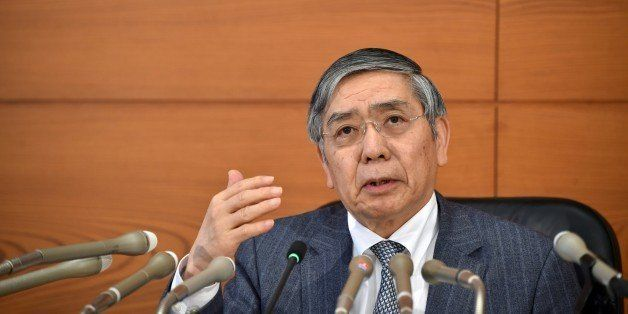 Bank of Japan Governor Haruhiko Kuroda speaks during a press conference in Tokyo on March 15, 2016. 