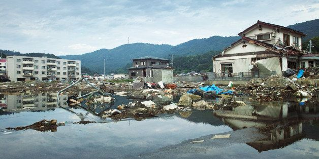Tsunami and earthquake damage in Ayukawahama of Ishinomaki-shi.
