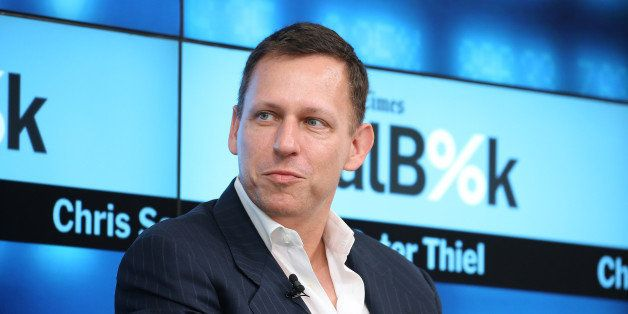 NEW YORK, NY - NOVEMBER 03:  Partner at Founders Fund Peter Thiel participates in a panel discussion at the New York Times 20