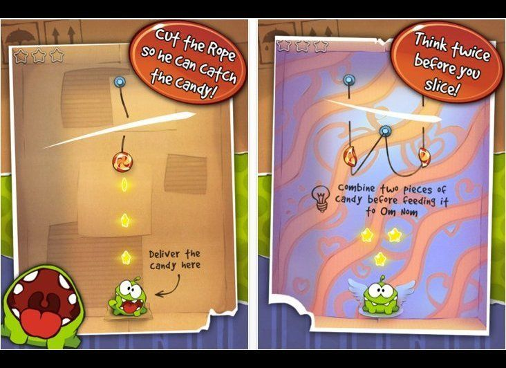 "Cut The Rope is, <a href=""http://technolog.msnbc.msn.com/_news/2010/10/13/5286278-superb-cut-the-rope-game-ties-up-iphoneipad"