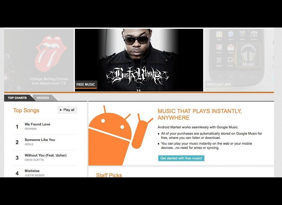 The new music store will be built into the Android market and will serve as a hub where users can discover, buy, share and do