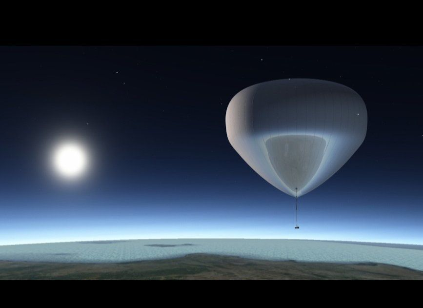 """The bloon, <a href=""""https://www.huffpost.com/entry/bloon-space-balloon-pictures-video_n_935415"""" target=""""_hplink"""">a helium-fil"""