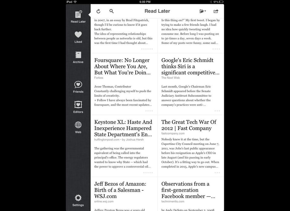 You're going to want to do a lot of reading on your iPad -- and not just book-reading, either! Instapaper is a handy utility