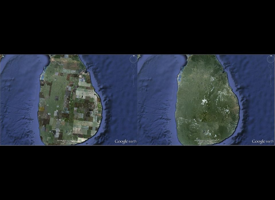 Sri Lanka, before and after rendering changes.