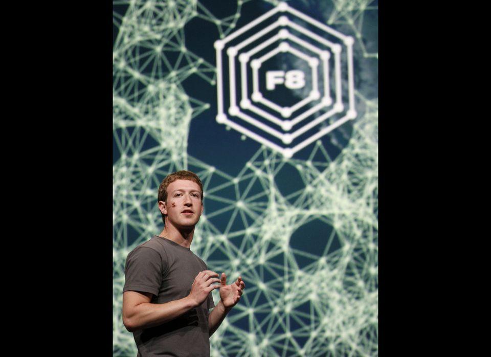 Mark Zuckerberg delivers a keynote at Facebook f8 Developer Conference in San Francisco in September 2011