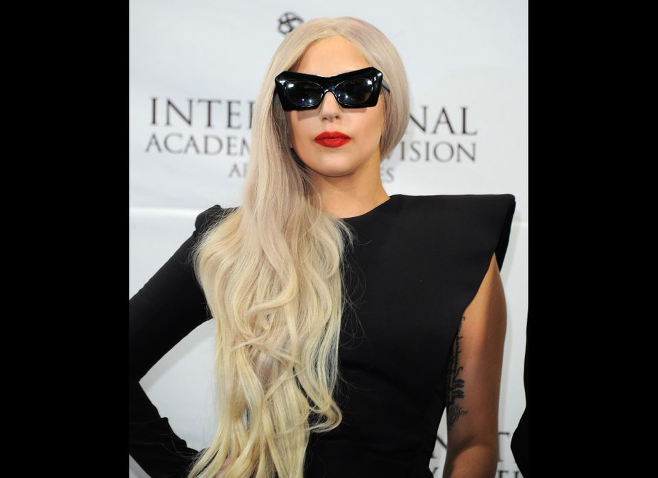 "Mega pop star Lady Gaga doesn't mind that people download her music for free. <a href=""http://entertainment.timesonline.co.uk"