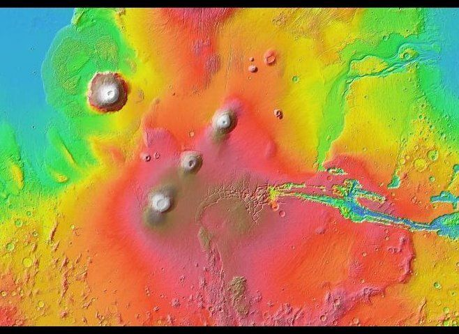 """Google worked with NASA researchers to create a detailed, digital map of the planet Mars. <a href=""""http://www.google.com/mars"""