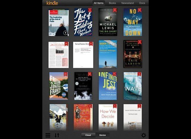Amazon has updated its popular e-reader application, just in time for a new iPad that promises to be easier on the eyes and a