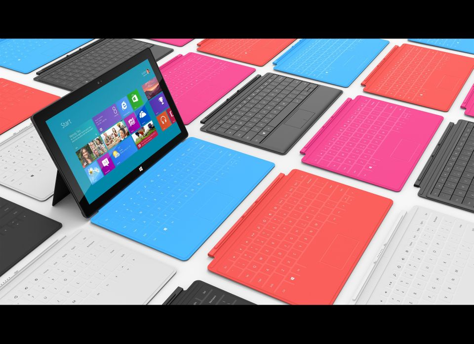 Typing on tablet computers can be a struggle for those accustomed to PC's physical keyboards. Microsoft Surface offers a solu
