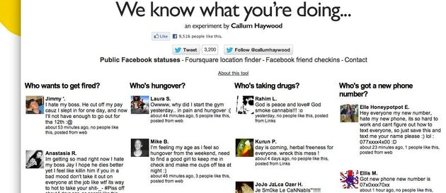 We Know What You're Doing' Showcases All The Facebook