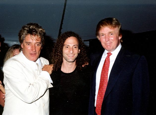 Rod pictured with Donald Trump and musician Kenny G in
