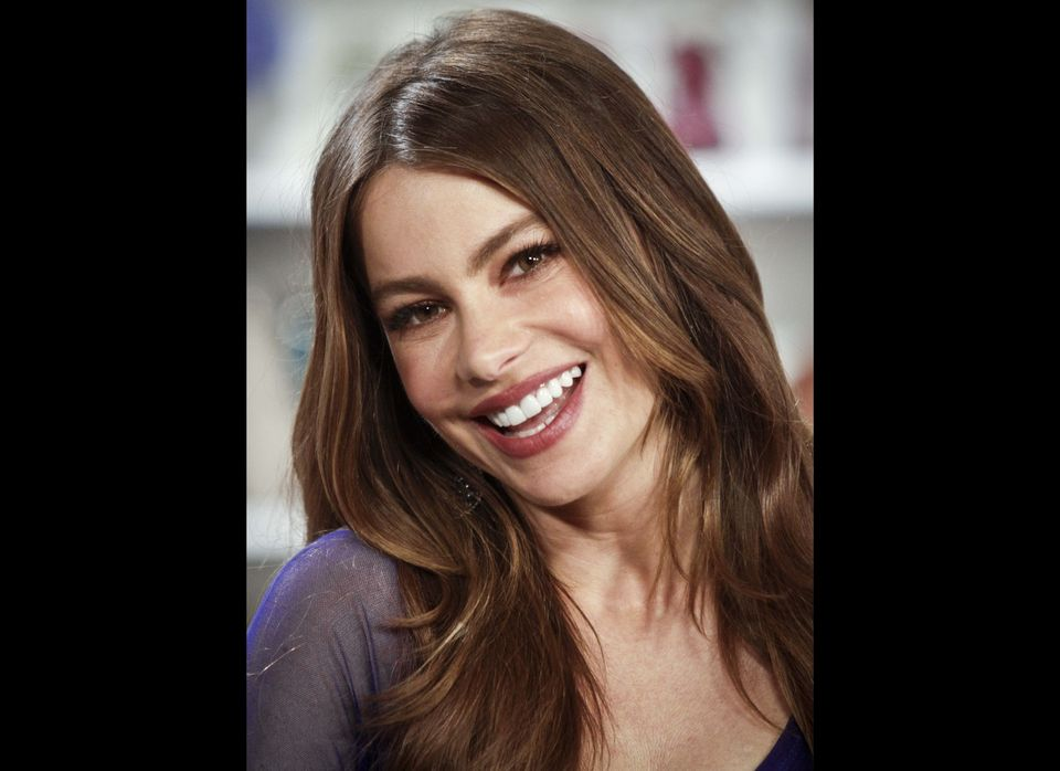 "Sofia Vergara, Emmy Award nominee actress of the TV show ""Modern Family,"" poses during an interview in New York, Tuesday, Aug"