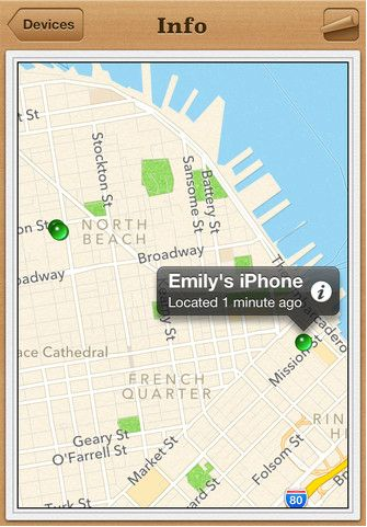 An app from Apple that tracks your iPhone's location so that if you ever lose it, or it's stolen, you can log onto iCloud.com