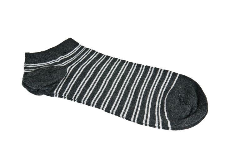 pair of striped socks on white...