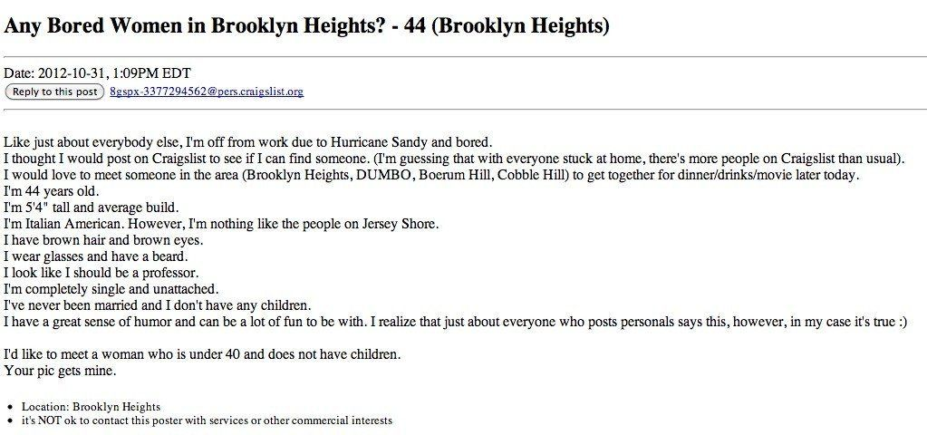 Should i hook up with someone on craigslist