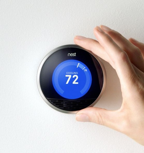 """This smart thermostat will remember their daily routine and adjusts the temperature accordingly to save energy. At <a href=""""h"""