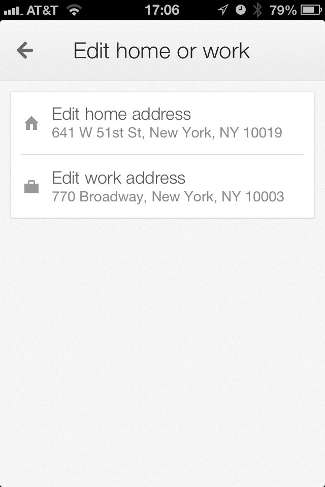 At any time during your Google Maps usage, you can input a Home and Work address; once you do, those two addresses will pop u