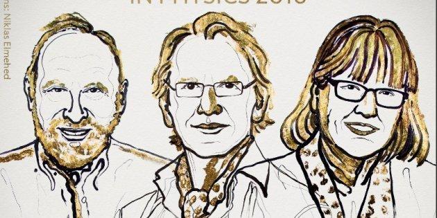 Un français, un américain et une canadienne, prix Nobel de Physique