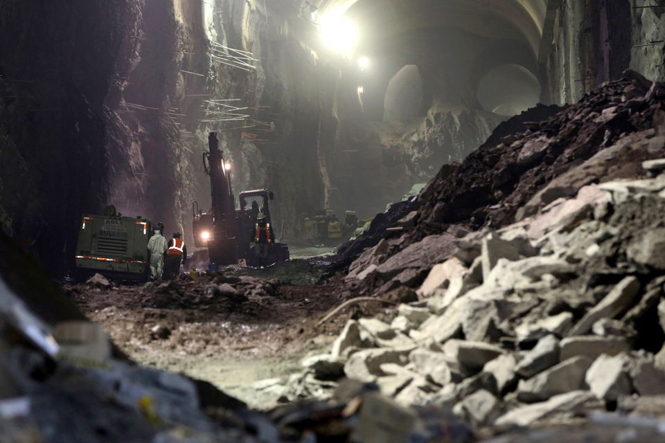 In this Tuesday, Jan. 29, 2013 photo, contractors work on the East Side Access project beneath midtown Manhattan, in New York