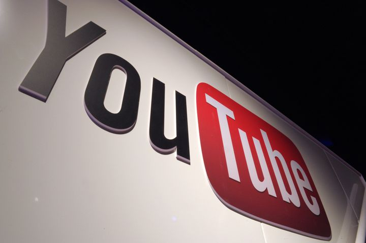 A picture shows a You Tube logo on December 4, 2012 during LeWeb Paris 2012 in Saint-Denis near Paris. Le Web is Europe's lar