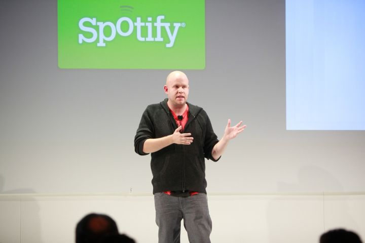 NEW YORK, NY - NOVEMBER 30:  Spotify Founder and CEO Daniel Ek  attends Spotify knocks it out of the park at Stephen Weiss St