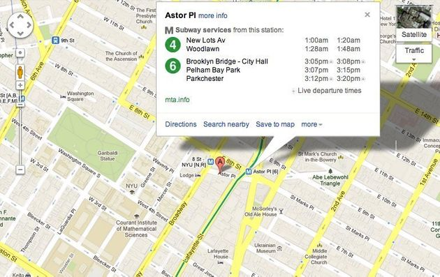 Google Map Of New York.Google Maps Adds Real Time Train Updates For New York City Subways