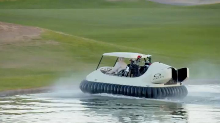 The Future Of Golf Is Hovercraft Golf Carts | HuffPost on bicycle in water, go kart in water, golf hole in water, backhoe in water, golf near water, golf hole on water, tools in water, scooter in water, electric vehicle in water, gps in water, trailer in water, generator in water, volkswagen in water, grill in water, camper in water, wheelchair in water, golf by water, bus in water, utv in water, plants that grow in water,
