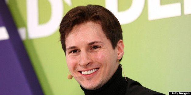 MUNICH, GERMANY - JANUARY 24:  Pavel Durov of Vkontakte  speaks during the Digital Life Design conference (DLD) at HVB Forum
