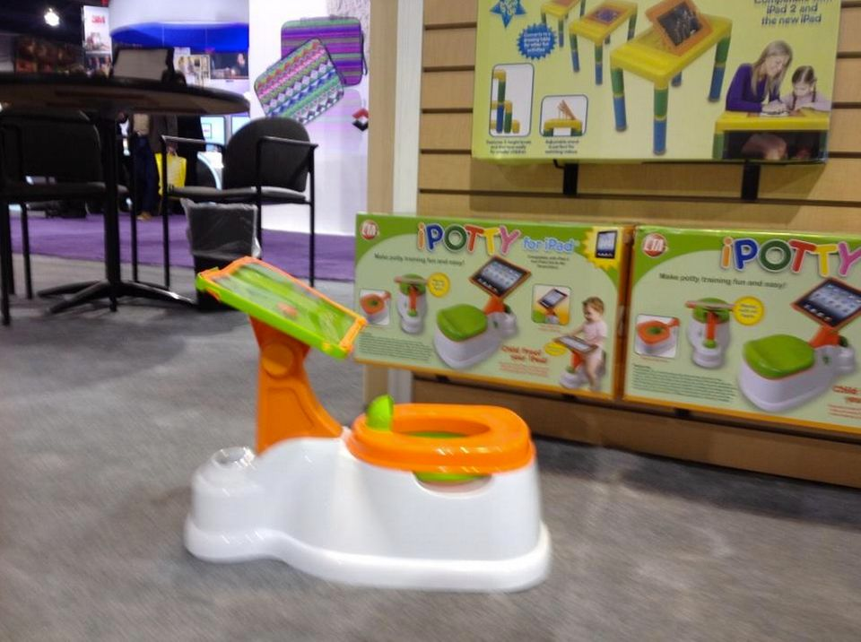 Toilet training a toddler is no picnic, but iPotty from CTA Digital seeks to make it a little easier by letting parents attac
