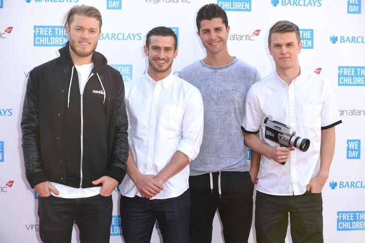 """Duncan Penn, left, with his """"Buried Life"""" castmates in 2015."""