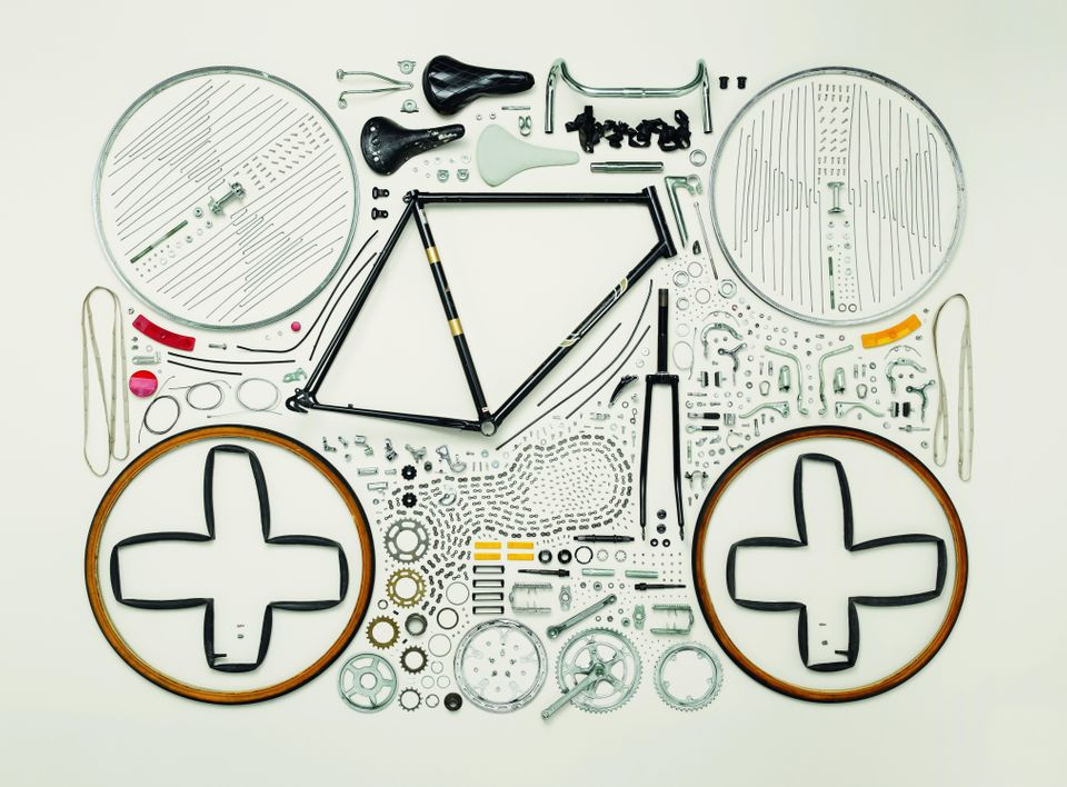"Caption: Bicycle, 1980s; Raleigh; Component count: 893 Photo credit: ©2013 <a href=""http://www.toddmclellan.com/thingscomeapa"