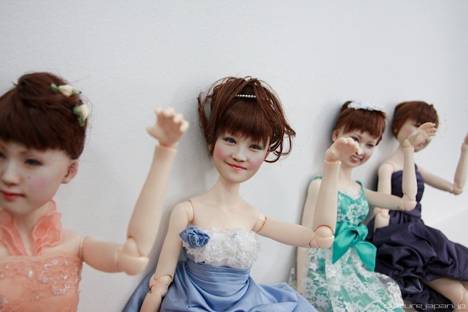 "Custom 3-D printed female dolls are shown in this photo provided by <a href=""http://www.dannychoo.com/post/en/26119/Human+Clo"