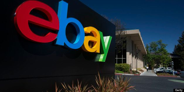 EBay Inc. signage is displayed outside of the company's headquarters in San Jose, California, U.S., on Tuesday, April 16, 201