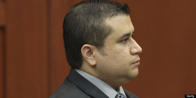 SANFORD, FL - JULY 10:  George Zimmerman stands to identify himself Olivia Bertalan as she testifies on behalf of the defense