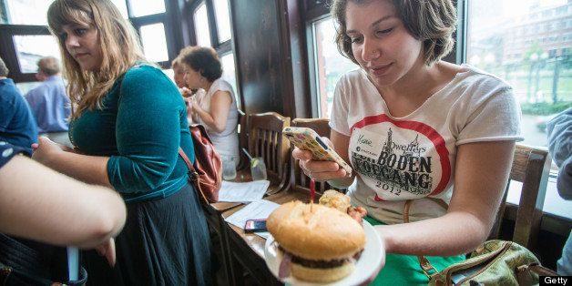 BOSTON - JULY 10: Participant Kassie Porcaro, 20, of Boston, took an Instagram of her plate at Goody Glover's in Boston durin