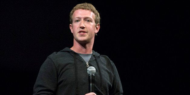 Mark Zuckerberg, chief executive officer of Facebook Inc., speaks prior to a screening of 'Documented' in San Francisco, Cali